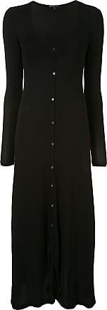 James Perse ribbed knit cardigan dress - Black
