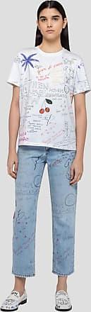Msgm sketches print denim pants