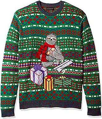 Blizzard Bay Mens Sloth in A Box Ugly Christmas Sweater, X-Large
