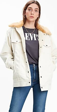 Levi's Oversized Corduroy Fur Trucker - Cream / Ecru Wide Wale