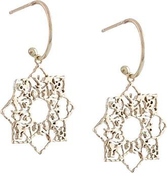 Natalie Perry Jewellery Par de brincos Mandala de ouro 9k - Dourado