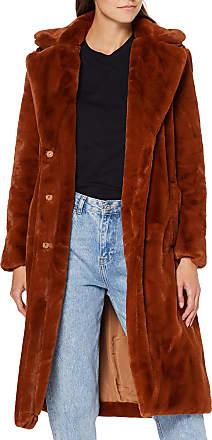Vila Womens Vikoda Faux Fur Coat, Brown (Toffee Toffee), 12 (Size: 38)