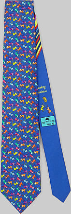 Etro Krawatte Mit Printmotiv Affe, Herren, Elektroblau
