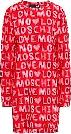 Love Moschino Love Moschino Woman Printed Cotton-jersey Mini Dress Red Size 38