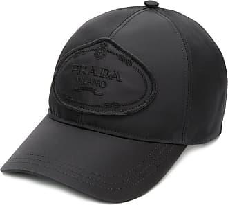 Prada Chapéu com logo - Preto