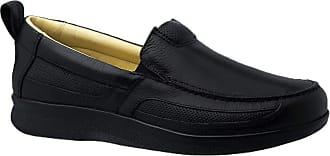 Doctor Shoes Antistaffa Sapato Masculino Neuroma de Morton em Couro Preto Floater 3055 Doctor Shoes-Preto-44