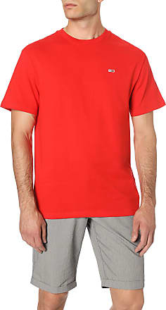 Tommy Jeans Mens TJM Tommy Classics TEE T-Shirt, Red (Flame Scarlet 667), XL