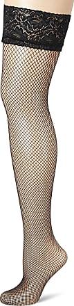 Fiore Womens Liza/Sensual Hold-up Stockings, 40 DEN, Black, Medium (Size: 3)