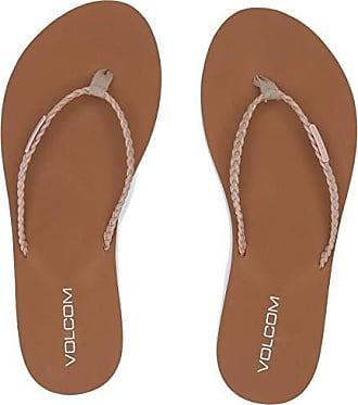 Volcom Womens Womens Weekender Braided Strap Fashion Sandal Sandal, Mushroom, 11 B US