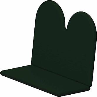 POLYWOOD Sunbrella 44.75 x 40.5 in. Double Seat Adirondack Bench Cushion Sunbrella Forest Green - XPWF0018-5446