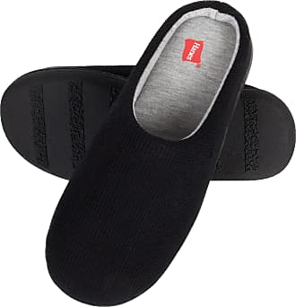 Hanes Womens Slipper, Black, Medium
