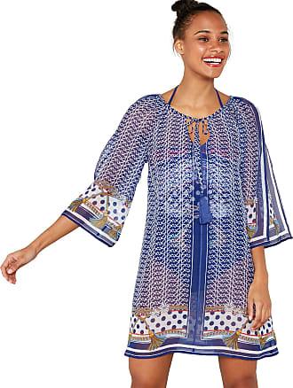 e660036a3 Debenhams Floozie by Frost French Womens Navy Scarf Print Kaftan Dress L