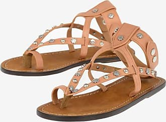 Isabel Marant Studded Leather ENGO Thong Sandals Größe 36