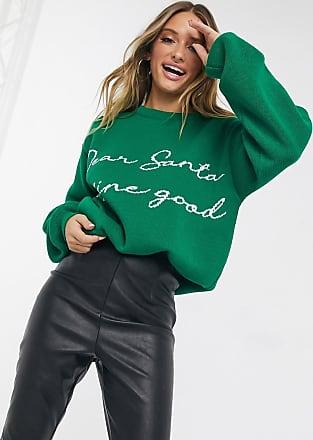 Missguided Kersttrui in groen