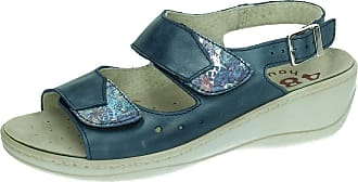 48 Horas 48 Hours 12401/29 Sandal Leather Combi Woman Sandals Blue Size: 7 UK