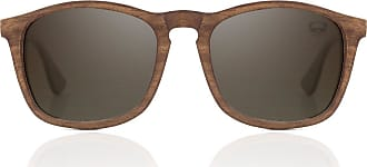 Fresh for Pandas Polarised Sunglasses Brown and Gold Rectangle Frames