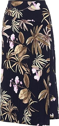 Vince Tropical Garden midi skirt