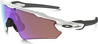 Oakley Mens Radar Ev Path (a) Non-Polarized Iridium Rectangular Sunglasses, Polished white, 35.01 mm