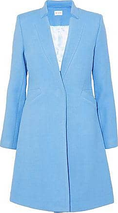 Milly Milly Woman Wool-blend Twill Coat Light Blue Size 4