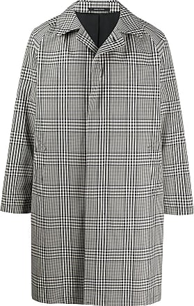 Tagliatore Salomon checked coat - Black
