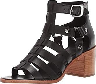 Frye Womens Bianca Gladiator Flat Sandal Black 8.5 M US