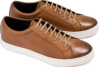 Ikon Bruno Leather Trainers | Tan (10)