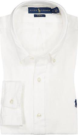 Polo Ralph Lauren Leinenhemd, Unifarben, Slim Fit von Polo Ralph Lauren in Weiss für Herren