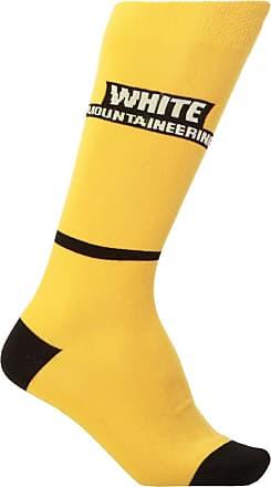 White Mountaineering Long Logo Socks Mens Yellow