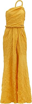 Johanna Ortiz Le Carolina One-shoulder Silk-blend Taffeta Dress - Womens - Yellow