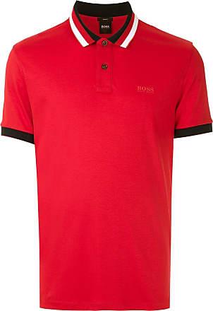 BOSS Camisa polo slim fit - Vermelho