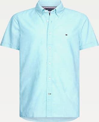 Tommy Hilfiger Sale Kurzarm-Hemd aus Baumwoll-Leinenmix