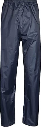 Islander Fashions Unisex Water Proof Over Rain Wear Trouser Adults Plain Fishing Work Wear Pants Navy Small