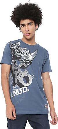 Ecko Camiseta Ecko Estampada Azul