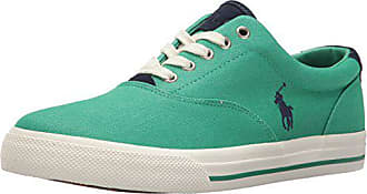 Polo Ralph Lauren Mens Vaughn-Colored Denim Sneaker, Green, 13 D US