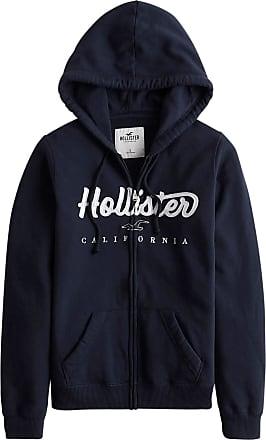 Hollister Sweatjacke navy / weiß