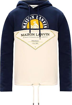 Lanvin Logo Hoodie Mens Cream