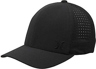 Hurley Mens Phantom Ripstop Curved Bill Baseball Cap, Black, S-M