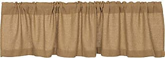 VHC Brands Lasting Impressions Burlap Natural Cotton Window Valance, 16-Inch-by-72-Inch