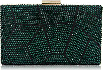 YYW Sparkly Evening Handbag Fashion Womens Glitter Clutch Bag Bridal Prom Party Purse (Green)