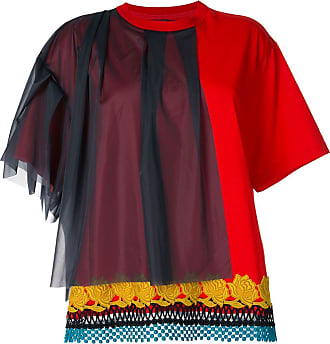 Kolor tulle-panelled embroidered T-shirt