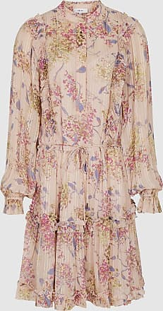 Reiss Cari - Floral Smock Dress in Pink, Womens, Size 12