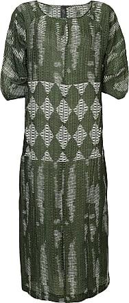 Zero + Maria Cornejo Vestido com padronagem geométrica - Verde