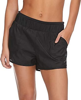 Body Glove Active Womens Bianca Loose FIT Activewear Short with UNDERSHORT, Black, Large