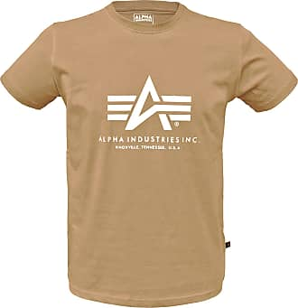 Alpha Industries Basic Alpha T-Shirt (Sale) caramel, Größe S