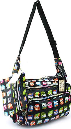 GFM Colourful Cartoon Messenger Shoulder Bag Fits A4 Folder A4 Pads for Gym, Holiday, Travel Changing Bag (6217-MTLO-KL)