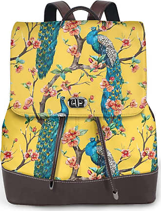 Not Applicable Clothing Peacock Ladies Backpack Leather Backpack Travel Work College Computer School Bag