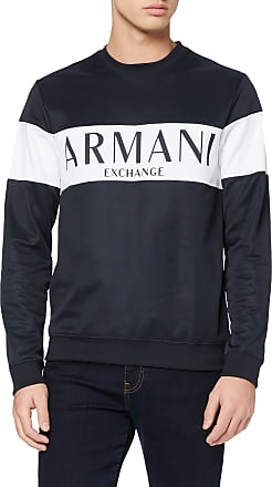 A X Armani Exchange Mens Mr Cool Sweatshirt, Blue (Navy with/White 2554), Small