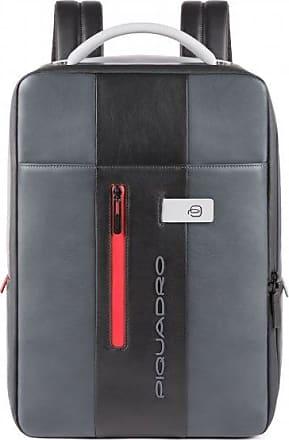 Piquadro Urban Zaino pelle 43 cm scomparto Laptop grey black