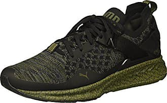 4d42f48466e1 Puma Mens Ignite Evoknit Lo Hypernature Sneaker Black-Quiet Shade-Olive  Night