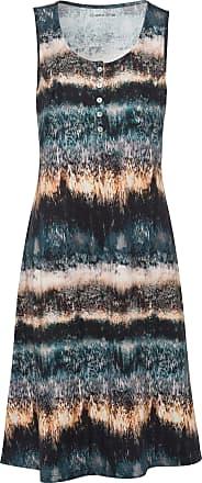 Peter Hahn Jersey dress in 100% cotton batik print Green Cotton multicoloured